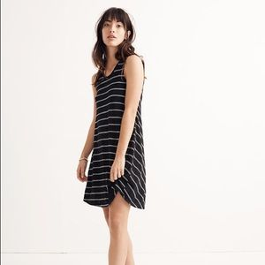MADEWELL Highpoint Tank Dress in Hosta Stripe XS